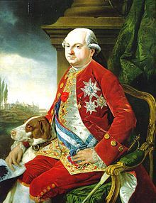 Ferdinand, Duke of Parma reigned from 1765-1802, married to Archduchess Maria Amalia of Austria.