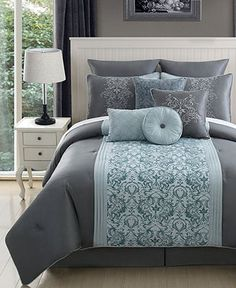 Emerald 10 Piece King Comforter Set - Bed in a Bag - Bed & Bath - Macy's