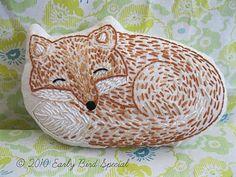 Bindel Bird: Fox and Hedgehog Pillows