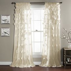 Lush Decor Riley Window Curtain Panel | Overstock.com Shopping - The Best Deals on Curtains