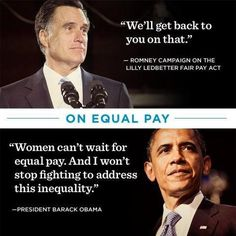 Romney does not have a good record advocating women @ large. For themselves, and considering the implications for future {i.e. fair pay, accessible college financial aid} generations of women, why would a woman vote for him?