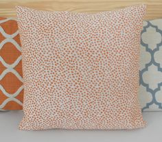 Orange coral confetti polka dots decorative throw pillow cover on Etsy, $24.00