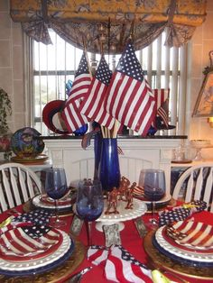 21 amazing diy patriotic design ideas patriotic party, of july party, patriotic crafts Fourth Of July Crafts For Kids, Fourth Of July Decor, 4th Of July Celebration, 4th Of July Party, July 4th, Patriotic Crafts, Patriotic Party, Patriotic Table Decorations, Blue Table Settings