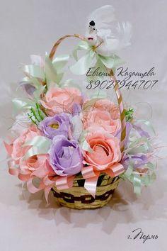 розовый цветок девушка корзина - Recherche Google