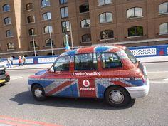 Taxi. Londres. Inglaterra.