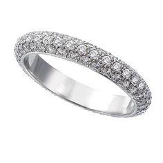 Ivanka Trump - 3 Row Full Cut Diamond Eternity Band #ring