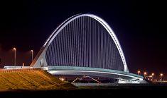 Ponte di Calatrava al casello autostradale di RE [Santiago Calatrava bridge at a local highway exit (Italy)] by ecatoncheires, via Flickr