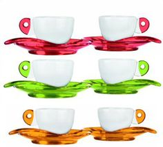 Espresso cups..... I'm dreaming of drinking real coffee!!!!!!!!!  I think it may be worth it just to have these most gorgeous cups and saucers!!$£17.99