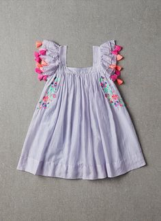 Nellystella Chloe Dress in Periwinkle - PRE-ORDER – Hello Alyss - Designer Children's Fashion Boutique