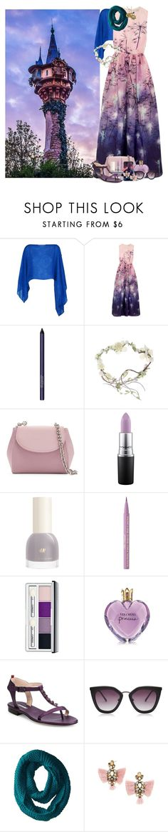 """Rapunzel's Tower"" by allyssister ❤ liked on Polyvore featuring Damsel in a Dress, Mary Katrantzou, Smashbox, La Regale, MAC Cosmetics, Too Faced Cosmetics, Clinique, Vera Wang, SJP and San Diego Hat Co."