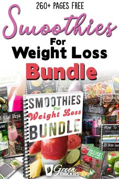 This 260 page FREE Smoothies For Weight Loss Bundle gives you everything you need to get started seeing immediate weight loss results from smoothies. Your health will thank you for it. Lose of Fat Every 72 Hours! Learn the Fast Weight Loss Make Ahead Smoothies, Good Smoothies, Apple Smoothies, Green Smoothies, Making Smoothies, Fruit Smoothie Recipes, Smoothie Prep, Smoothie Ingredients, Smoothie Cleanse