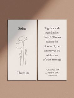 modern little uncomplicated marriage ceremony invitation stationery floral illustration bold statement typography Simple Wedding Invitations, Wedding Invitation Wording, Wedding Stationary, Invitation Design, Invites, Event Invitations, Typography Wedding Invitations, Modern Wedding Stationery, Invitations Online