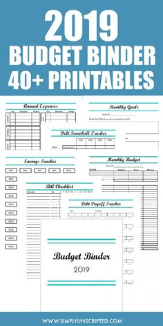 This 2019 Budget Binder is simple enough for beginners to financial planning. It includes over 40 pages of printables and templates to organize your financial life. Use these printables to start saving money track your monthly budget and pay off debt. Budget Binder, Budget Spreadsheet, Plan Budgétaire, How To Plan, Dave Ramsey, Budgeting Finances, Budgeting Tips, Monthly Expenses, Financial Tips