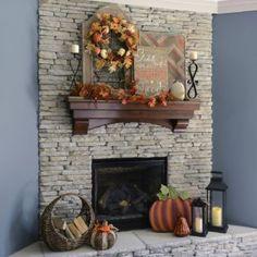 Harvest Decorations, Fall Mantel Decorations, Mantel Ideas, Mantels Decor, Thanksgiving Decorations, Fall Home Decor, Autumn Home, Autumn Mantel, Holiday Decor