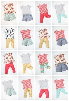 a cute and colorful girls handmade summer wardrobe