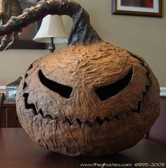 paper mache halloween | Paper Mache Pumpkins (12 Tutorials) | Church of Halloween
