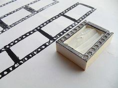 映画のフィルム型はんこ。Hand carved stamp