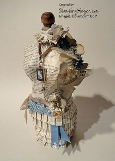 Paper mache mannequin inspired by Stampin' Up!®.  @Laurie Tirone. This made me think of Rachel's creations