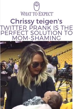 On Thursday night, hilarious new mom Chrissy Teigen made headlines for breastfeeding 6-week-old Luna during the NBA finals backstage. And while we're very impressed with her multitasking and new mom style (That braid! Those boots!), we're actually more grateful for her pregame antics. #chrissyteigen #whattoexpect | whattoexpect.com