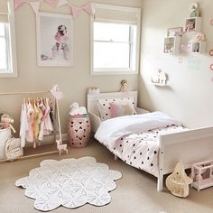 Shelves above bed (to the side of cot C) so when it's a big bed it can move. Like the clothes rail for dress up too!