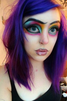 Cute Cartoon Girl Makeup Tutorial :) | make-up | Pinterest | Girls ...