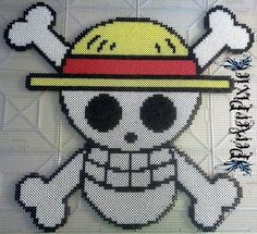 Luffy's Jolly Roger - One Piece perler beads by PerlerPixie on deviantART