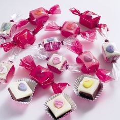 Easy to make conversation heart fudge. Very cute for Valentine's Day.