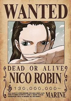 Poster One Piece Wanted Robin One Piece Manga, One Piece Figure, One Piece Comic, Robin One Piece, Poster One Piece, One Piece Drawing, Zoro One Piece, Nico Robin, Otaku Anime