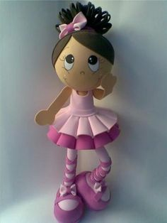 Foam craft ballerina doll tutorial                                                                                                                                                                                 More