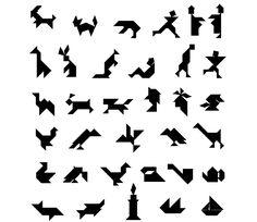 Distintas configuraciones creadas con el Tangram