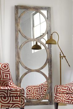 Not sure for where, but loving this mirror in  your house Melange Encircle Floor Mirror