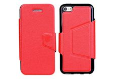Magnetic Folio Flexible TPU Kickstand Leather Protector Cases for iPhone Iphone 5c Cases, New Iphone, Flexibility, Tech, Leather, Technology, Back Walkover, Tecnologia