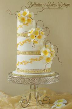 Bali themed wedding cake