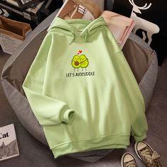 Let's Avocuddle Hoodie Harajuku Sweatshirt Cute Sweatshirts, Cool Hoodies, Stylish Hoodies, Hoodie Brands, Applis Photo, Harajuku Fashion, Teen Fashion Outfits, Cute Casual Outfits, Tomboy Outfits