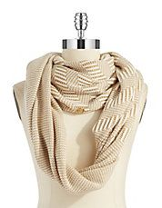 Paisley and Glitter Infinity Loop Scarf | Lord and Taylor