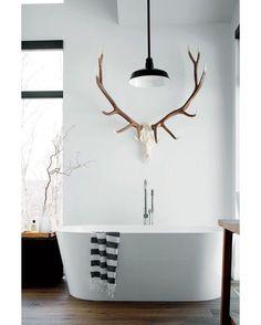 """Bathroom #bathroom #bathtub #interior #interiors #interiordesign #design #architecture"" via @homeadore"