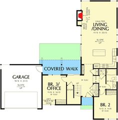 Plan Two Bedroom Contemporary House Plan Contemporary