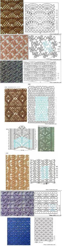 Julia M - sudaruchka (Blog russo):  Esquemas de padrões - para crochê.  Padrões nunca é suficiente, especialmente quando pensa numa coisa para a qual não há nenhuma descrição pronta e, em seguida, com base em um desses padrões pode ser desenvolvido - uma toalha de mesa ou alguma manta ...: