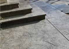 stamped concrete steps   Seamless Stamped Concrete steps and landings with rough granite 2 ...