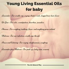 We have outlined 5 oils that you can use for your babies and some possible use cases for them. Try out your Young Living Essential Oils today!   Note: be careful as this information is only for Young Living Oils, other essential oils may not be safe for babies.