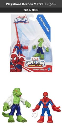 Playskool Heroes Marvel Super Hero Adventures Spider-Man and Lizard Figures. Give your little hero an incredible matchup of strength and cunning with this dynamic duo of hero and villain figures! These Spider-Man and Lizard figures are sized just right for his little hands – and his adventures. With this 2-pack, the battle between good guys and bad guys is in the palm of your little crime-fighter's hand! Playskool and all related characters are trademarks of Hasbro. Marvel products are...