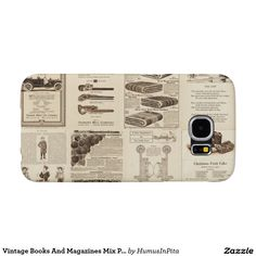 Vintage Books And Magazines Mix Phone Case Samsung Galaxy S6 Cases