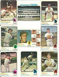1973 Vintage Topps TWINS 27 cards team set KILLEBREW CAREW BLYLEVEN Oliva Kaat #MinnesotaTwins