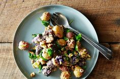 Roasted Potato Salad with Mustard Walnut Vinaigrette (+ a Winner's QA) on Food52: http://food52.com/blog/10691-winner-of-your-best-picnic-recipe #Food52