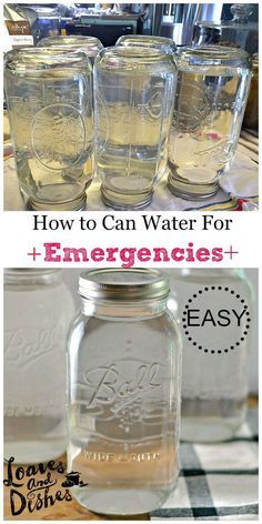 Are you ready for an emergency? Do you have enough water for your family in case of an emergency? Find out how to Can Water - easily - no special tools required @Loaves and Dishes.net