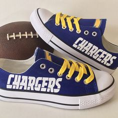 San Diego Chargers Converse Style Sneakers - http://cutesportsfan.com/san-diego-chargers-designed-sneakers/