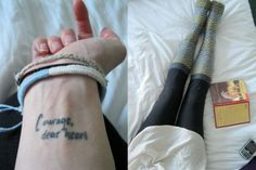 """""""Courage, dear heart"""" - CS Lewis, Voyage of the Dawn Treader. or higher near collarbone."""