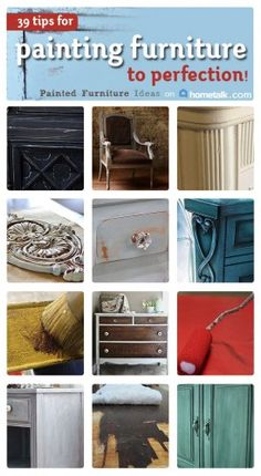 Here is our latest collection of great furniture painting tutorials on Hometalk! If you love painting furniture and are looking for some great tips on various furniture painting techniques, check o...