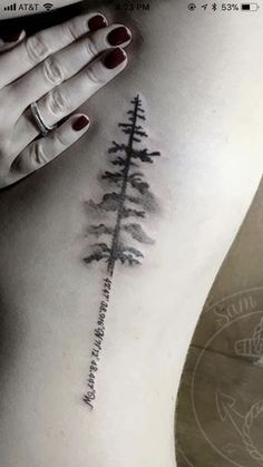 Evergreen tree tattoo sternum ideas - Evergreen tree tattoo sternum ideas You are in the right place about Evergreen tree tattoo stern - Time Tattoos, Body Art Tattoos, New Tattoos, Cool Tattoos, Tattoo Art, Shape Tattoo, Sternum Tattoo, Tatoos, Natur Tattoos