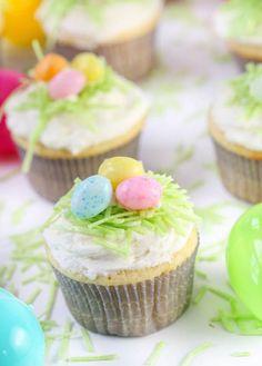 Easter Lemon Cupcakes with Lemon Buttercream